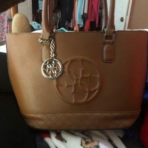 GUESS brown shoulder purse